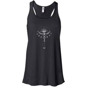 """Emerging Lotus"" Flowy Ladies' Tank - Moonsun Malibu"