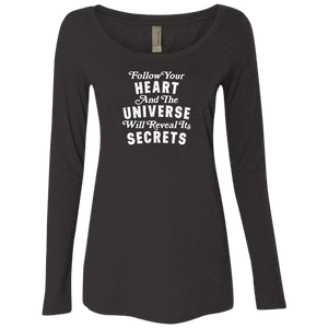 """Follow Your Heart"" Ladies' Triblend Longsleeve - Moonsun Malibu"