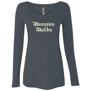 """Moonsun Malibu II"" Ladies' Triblend Longsleeve - Moonsun Malibu"