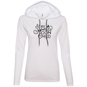 """Moon Child"" Ladies' T-Shirt Longsleeve Hoodie - Moonsun Malibu"