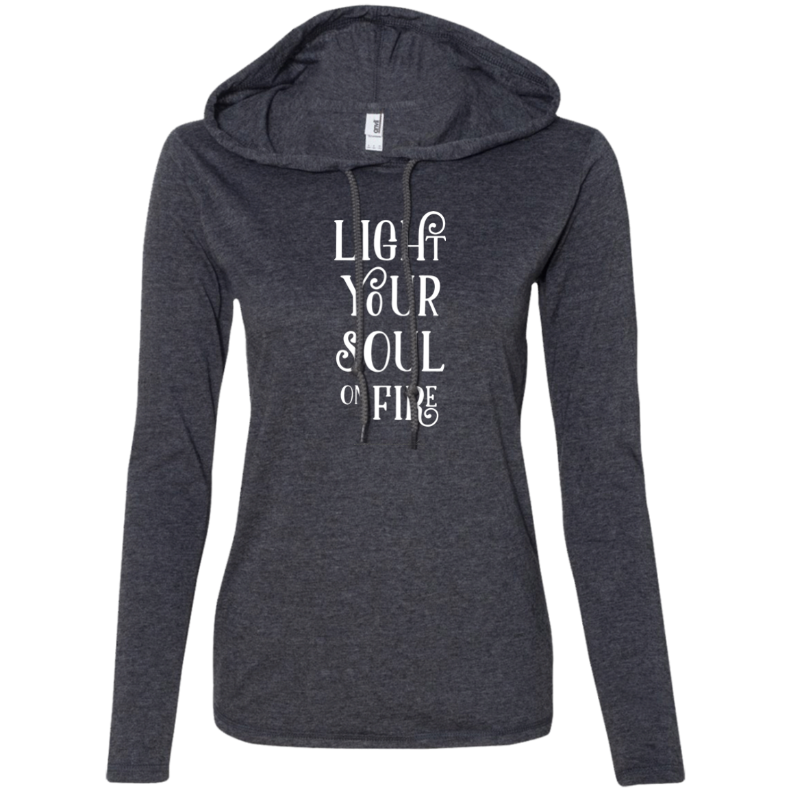 """Soul Fire"" Ladies' T-Shirt Longsleeve Hoodie - Moonsun Malibu"