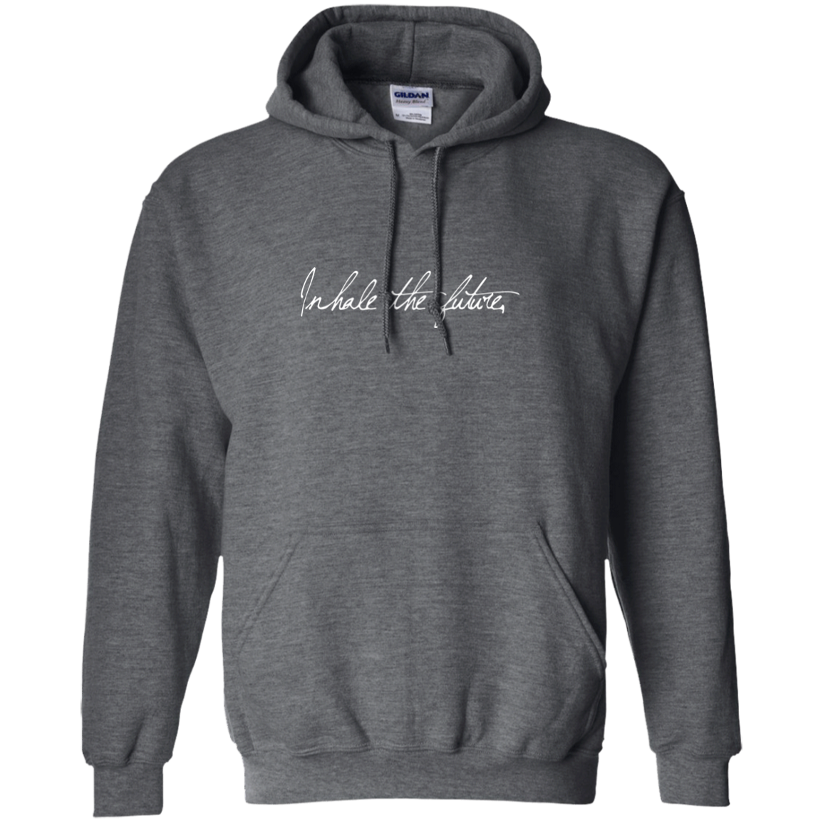 """Inhale Exhale"" Front/Back Printed Unisex Pullover Hoodie - Moonsun Malibu"