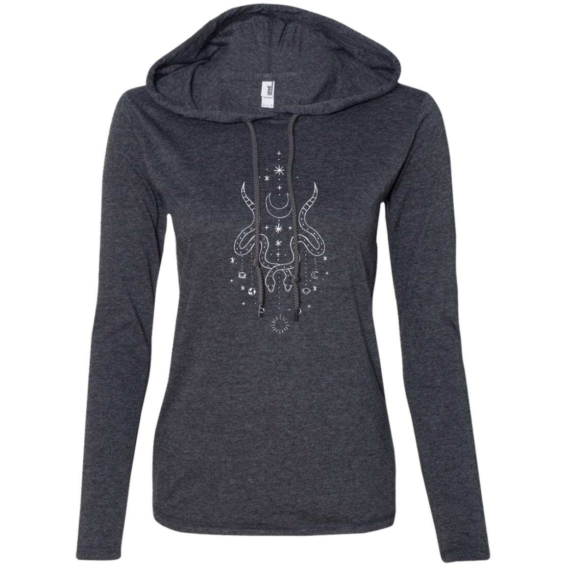 """Moon Serpent"" Ladies' T-Shirt Longsleeve Hoodie - Moonsun Malibu"
