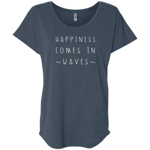 """Happiness Waves"" Ladies' Triblend Tee - Moonsun Malibu"