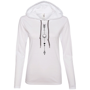 """Moon Arrow"" Ladies' T-Shirt Longsleeve Hoodie - Moonsun Malibu"