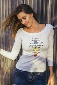 """Chakra Love"" Ladies' Triblend Longsleeve - Moonsun Malibu"