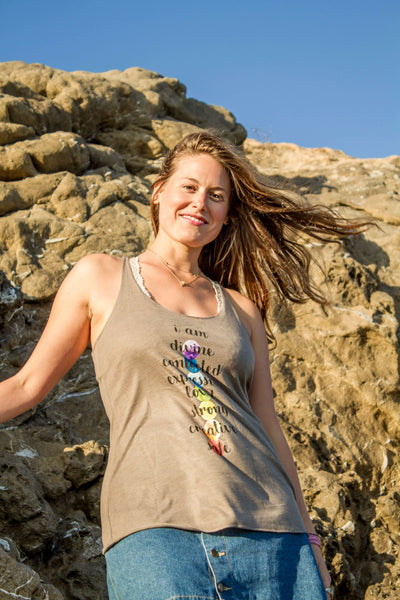 """Chakra Love"" Ladies' Triblend Tank - Moonsun Malibu"