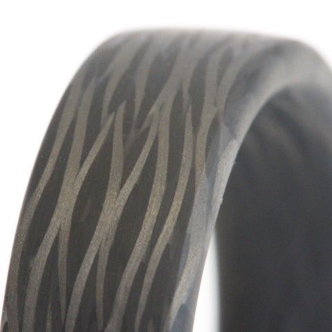 Twill sidecut carbon fiber weave example