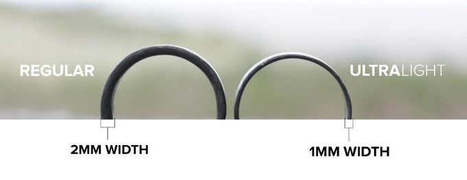 A comparison of two glowing carbon fiber rings