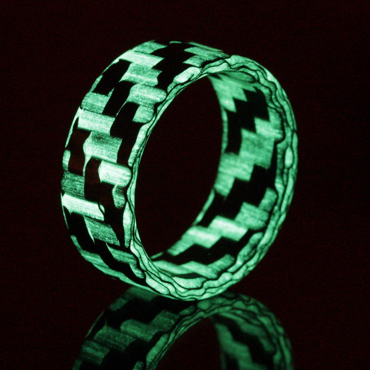 The Lumineer - Chroma Glow Twill Glass & Carbon Fiber Ring