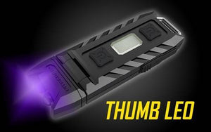 A thumb led uv light
