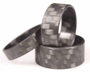 Three Twill Ultralight Carbon Fiber Minimalist Ultralight Rings