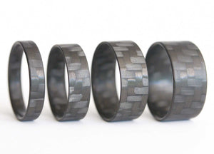Carbon Fiber Ring set