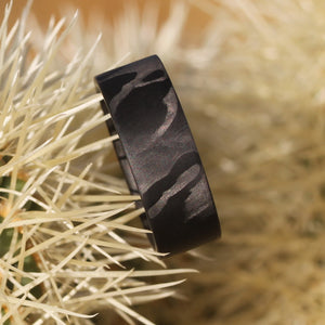 The filament carbon fiber ring on a cactus