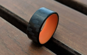 A carbon fiber glow ring that is orange