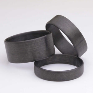 matte gray carbon fiber ring wedding band