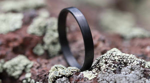 Fitness ring carbon fiber stackable ring