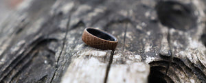 Wooden ring made of whiskey barrel