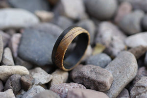 Whiskey Barrel Wood Ring in pebbles