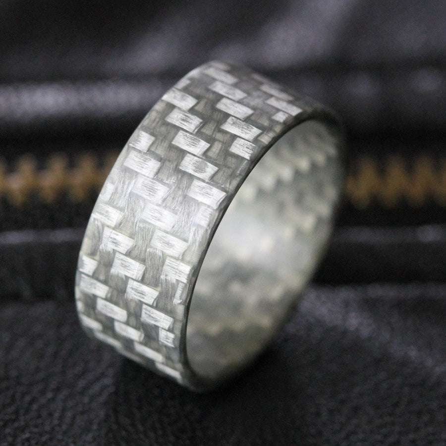 The silver twill ultralight fiberglass ring