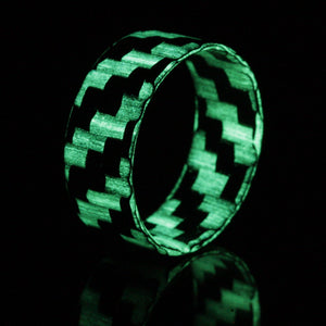 An ultralight carbon fiber glow ring