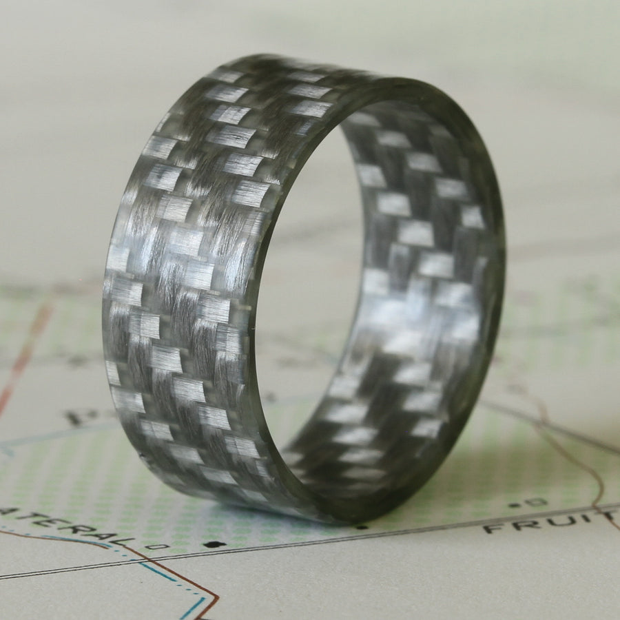 a silver ultralight fiberglass ring