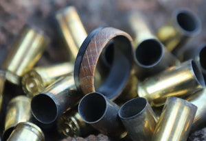Whiskey Barrel Wood Ring in bullets