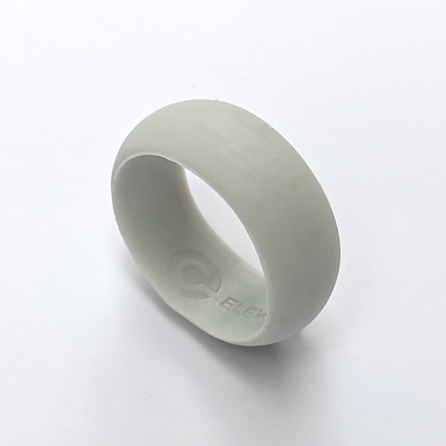 A white silicone wedding ring