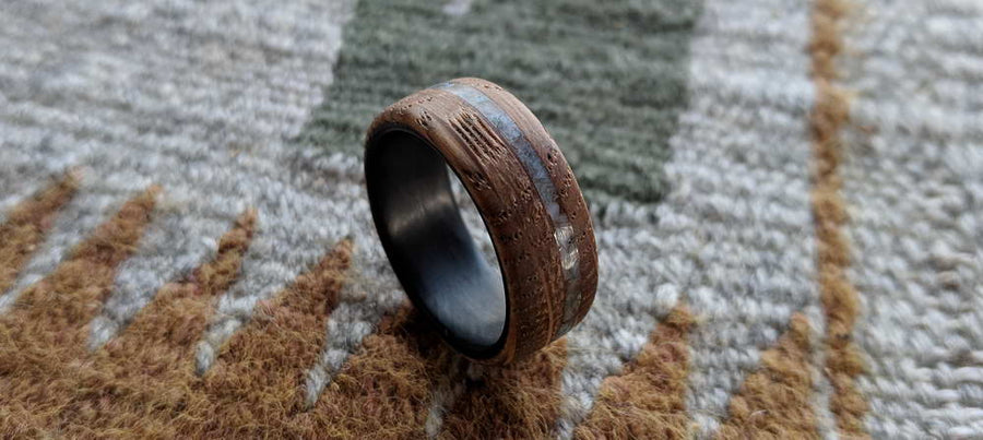 The Old Western Wood Inlay Ring