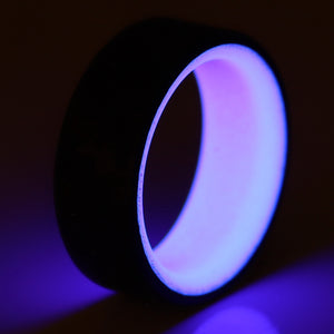 A purple glowing carbon fiber ring