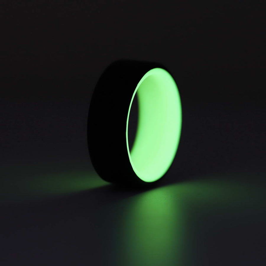 A glowing carbon fiber ring in the dark