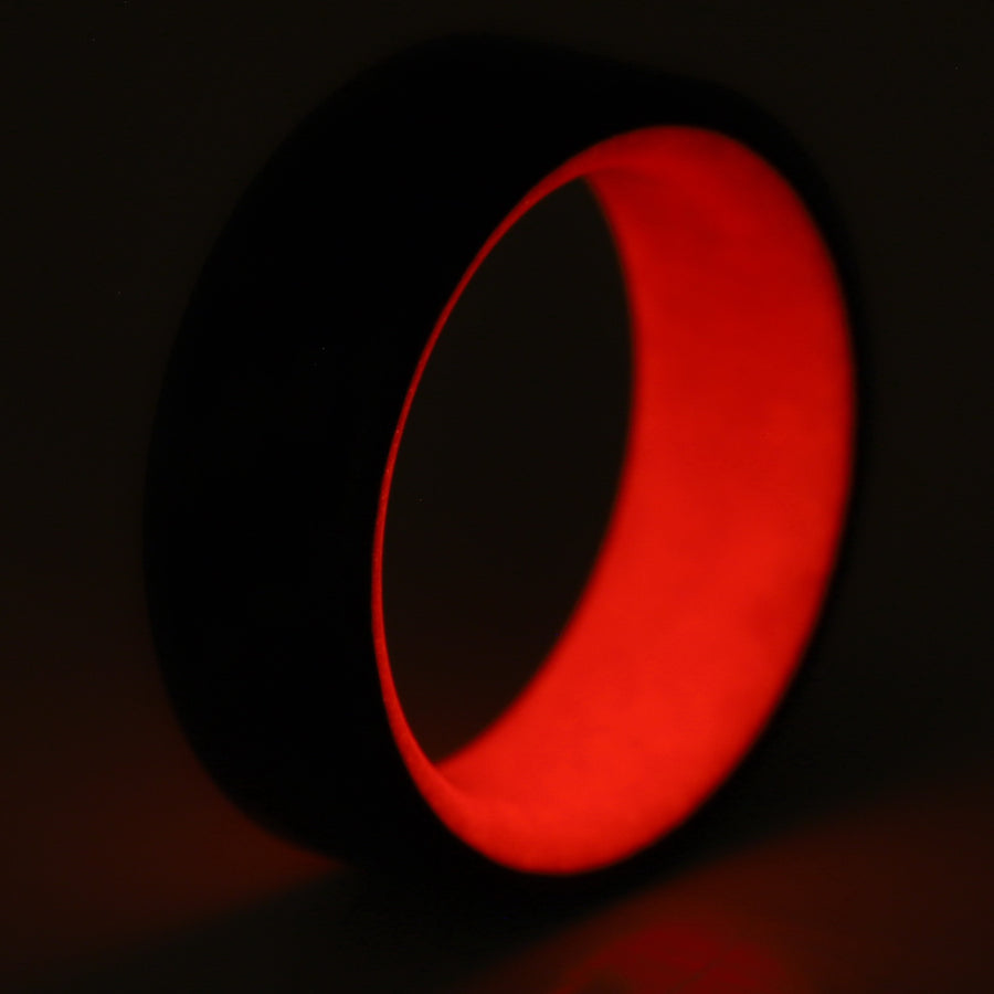 A glowing red carbon fiber ring