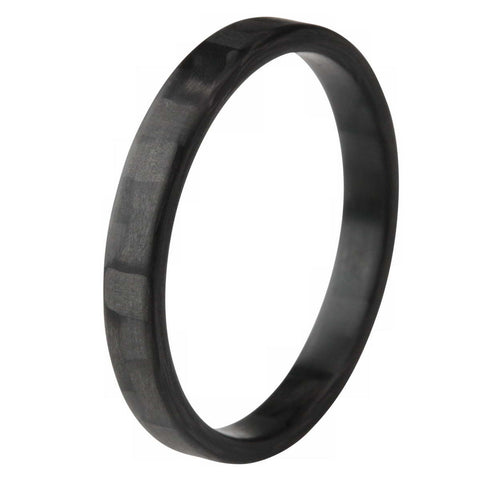 The Racer Ultrafit - Thin Profile & Narrow Twill Carbon Fiber Ring