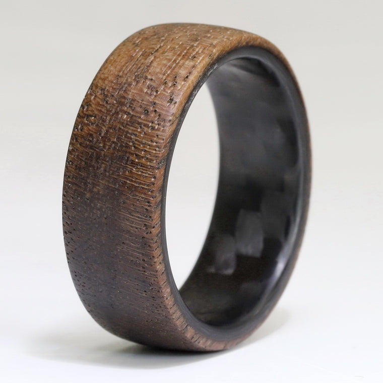 The Lumberjack - Twill Carbon Fiber and Walnut Wood Ring