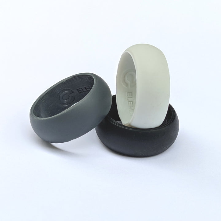 Three Silicone Rings by Element Ring Co