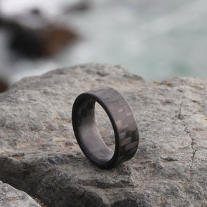 A carbon fiber ring made for men