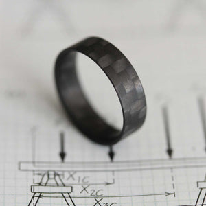 Carbon Fiber Ring on paper