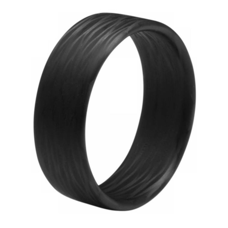 Wave Ultralight Carbon Fiber Minimalist Ring