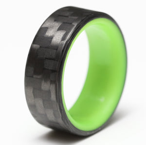 A yellow glowing carbon fiber ring