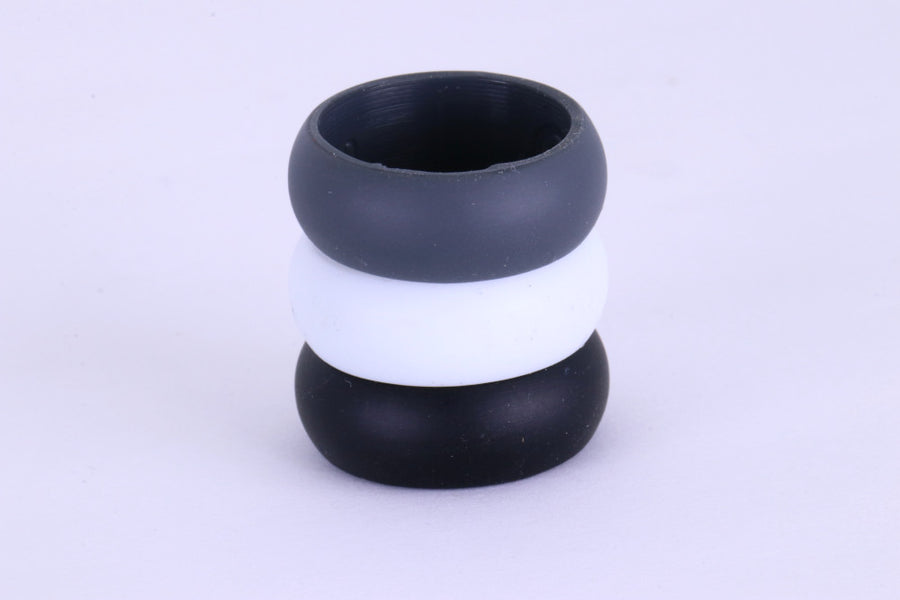 Three Silicone Wedding Rings for Electricians