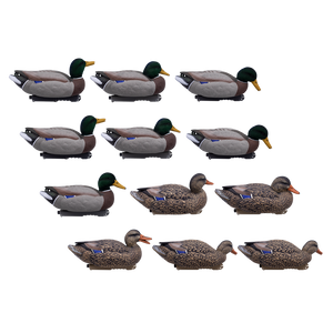Live Mallard Floaters with Flocked Head Drakes