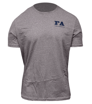 Final Approach Logo Mallard Tee, Heathered Steel