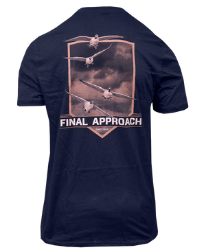 Final Approach Logo Goose Tee, Navy Blue