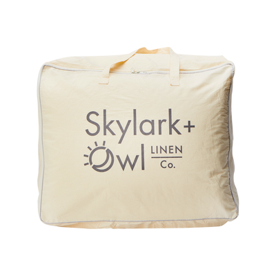 Synthetic Down Duvet Insert | Skylark+Owl Linen Co.