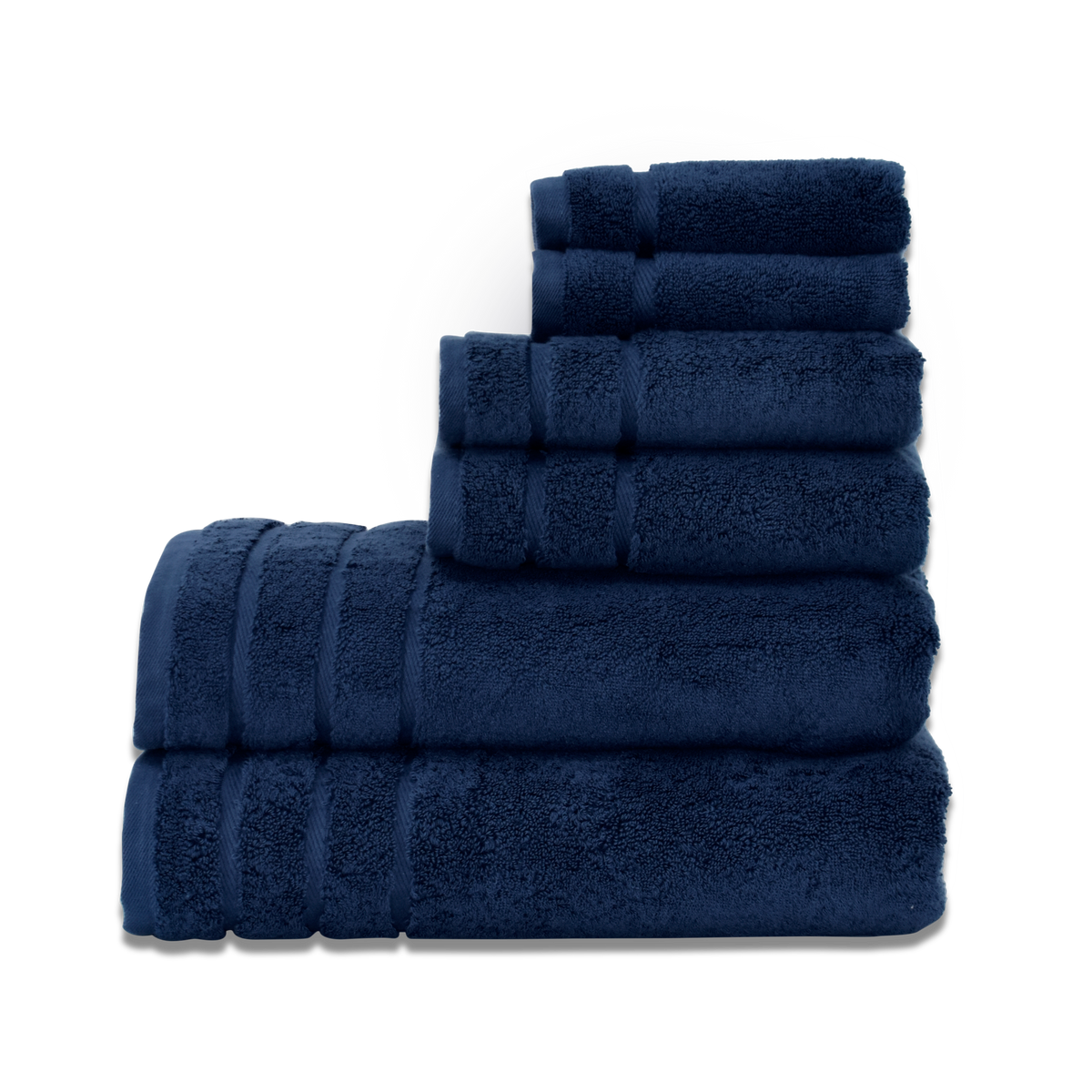 Serene Turkish Cotton Towel Set in Navy Blue | Skylark+Owl Linen Co.