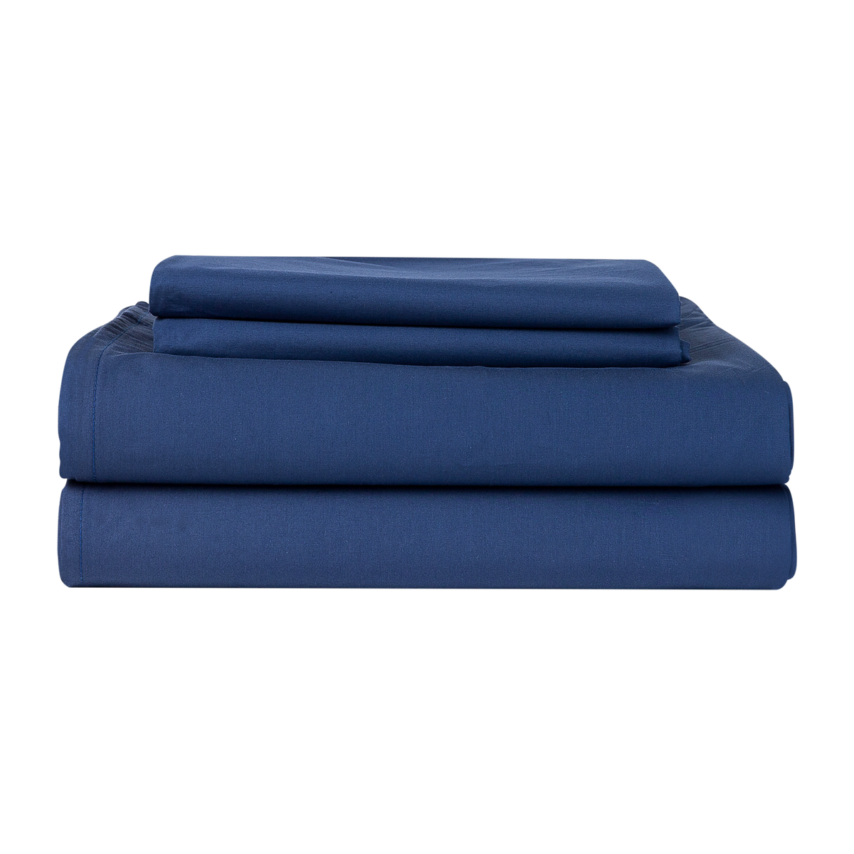Percale 100% Egyptian Cotton Sheet Set Navy Blue