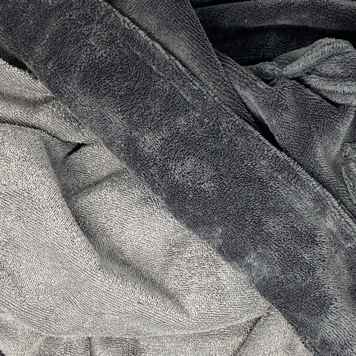 Velour Bathrobe Grey