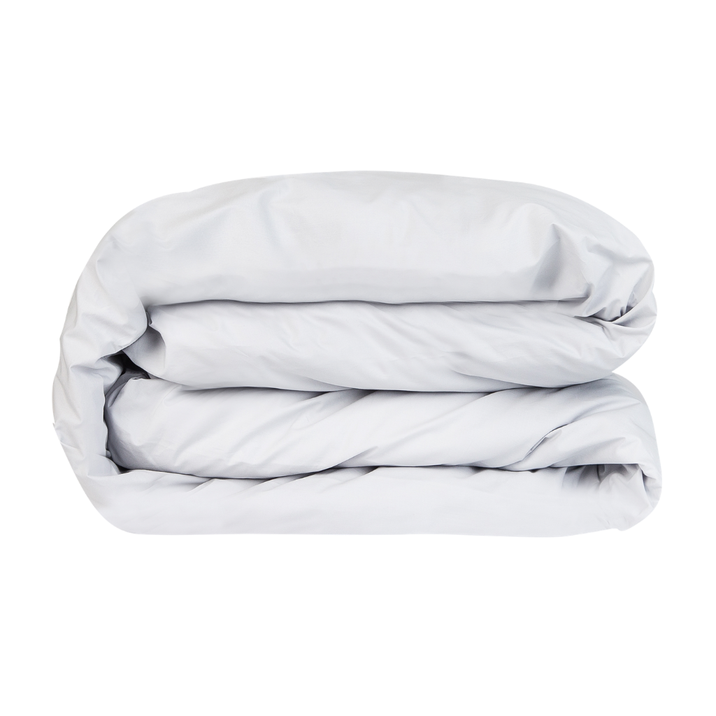 Essential Collection Percale Cotton Pillowcases in Light Grey | Skylark+Owl Linen Co.