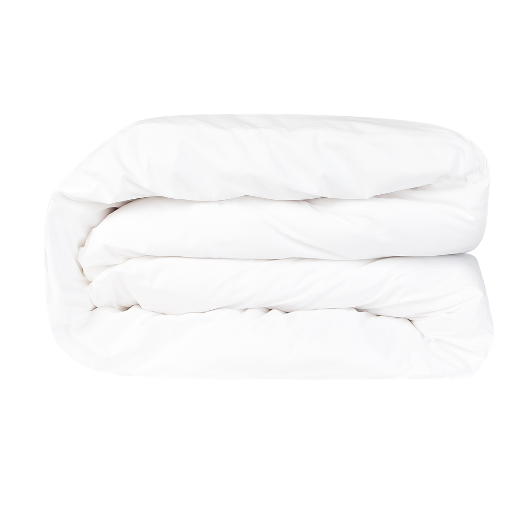 Essential Collection Percale Cotton Duvet Cover in White | Skylark+Owl Linen Co.