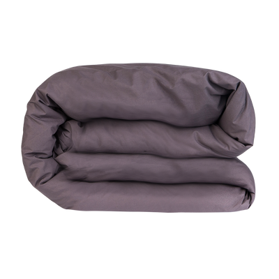 Essential Collection Percale Duvet Cover in Charcoal | Skylark+Owl Linen Co.